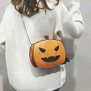 EPRHAY - Borsa a tracolla da donna, a forma di zucca, per Halloween, per feste, feste di Halloween, colore: marrone