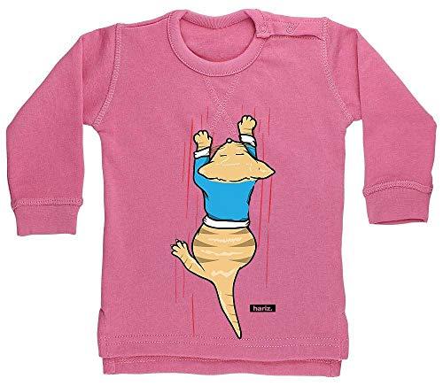 Hariz - Jersey para bebé, diseño de gatito con garras y zoo, incluye tarjeta de regalo Algodón de azúcar rosa. Talla:18-24 meses