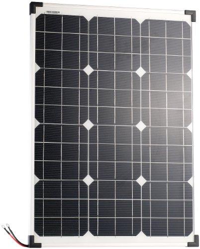 revolt Solarmodule: Mobiles Solarpanel mit monokristallinen Solarzellen, 50 Watt (Solarpanel für Gartenbeleuchtung)