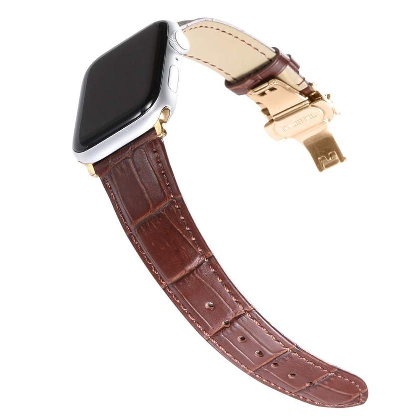CHIMAERA コンパチ Apple Watch バンド アップルウォッチバンド38mm 40mm 42mm 44mm Apple ウォッチ4 3 2 1用バンド 本革 交換バンド 高級 レザー ビジネス用 腕時計