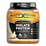 Body Fortress Super Advanced, Whey Protein Isolate Powder, Keto Diet Friendly, Gluten Free, Vanilla, 60 g of Protein, 24 Ounce