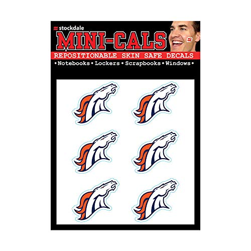 WinCraft NFL Denver Broncos Face Tattoos, Team Colors, One Size