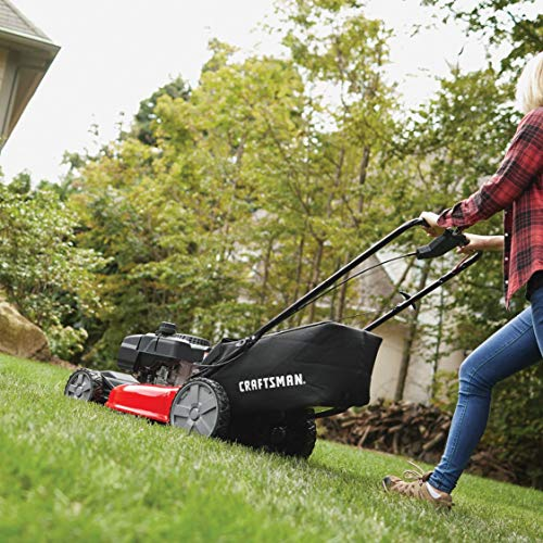 Craftsman M215 159cc 21-Inch 3-in-1 FWD Self-Propelled Lawn Mower with Bagger