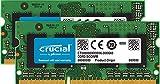 Crucial CT2K8G3S160BM 16Go Kit (8Gox2) (DDR3/DDR3L, 1600 MT/s, PC3-12800, SODIMM, 204-Pin) Mémoire pour Mac