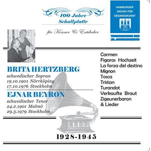 Ejnar Beyron & Brita Hertzberg, Historical Recordings from 1928-45