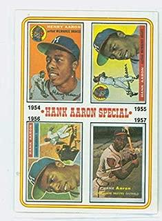 1974 Topps Baseball 2 Hank Aaron 1954-1957 Near-Mint