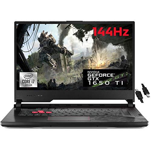 Ordinateur portable de jeu phare de 2021 ASUS ROG Strix G15 15 Écran 15.6 'FHD 144 Hz Intel Hexa-Core i7-10750H 16 Go DDR4 1 To SSD NVIDIA GTX 1650 Ti 4 Go Clavier rétroéclairé WiFi USB-C Win 10 + câble HDMI