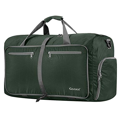 Gonex 80L Packable Travel Duffle Bag Foldable Duffel Bags for Luggage Gym Sports Camping...