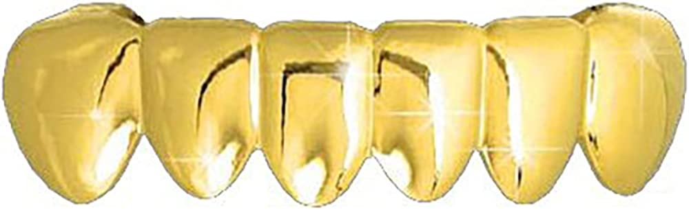 Hip Hop Gold Tone Removeable Mouth Grillz (Bottom) Lower