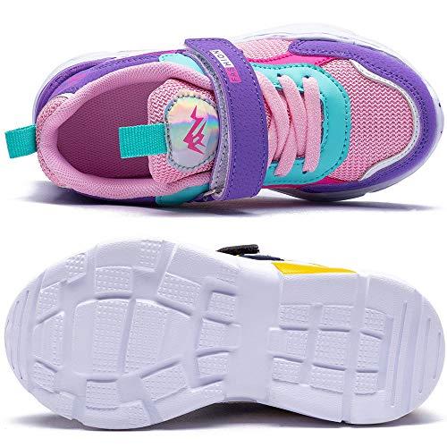 Zapatillas de Correr Niñas 33 Zapatillas de Niños Deportivas Zapatos de Running Niño Ligeras Zapatos de Walking Niña Transpirable Sneakers Baloncesto Zapatillas y Calzado Deportivo Azul-Verde