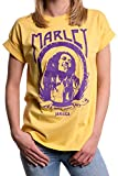 MAKAYA Top Musica Talla Grande Estilo Hippie - Marley - Camiseta para Mujer Manga Corta Verano