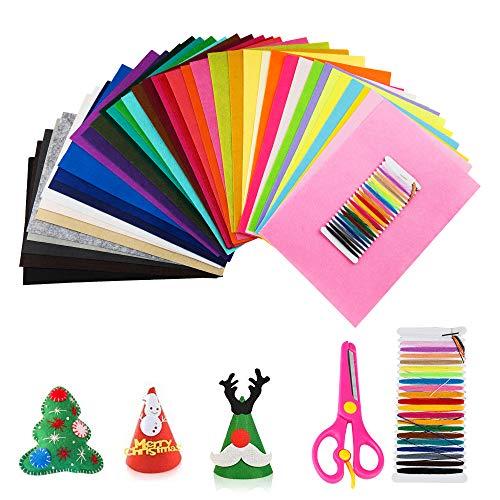 Hoja de Fieltro, SenPuSi Fieltro Manualidades 40 Colores No Tejido Tela de Fieltro Suave Felt Fabric para Patchwork Costura DIY Artesanías de Bricolaje Manualidades (20cm×30cm)