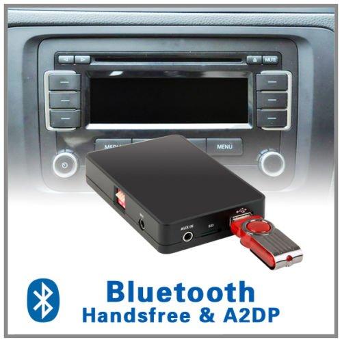 Bluetooth-Freisprecheinrichtung A2DP CD-Wechsler Adapter für Volkswagen VW Jetta T5 Rabbit EOS Fox 12 Pin RCD 200 210 300 310 500 MFD2