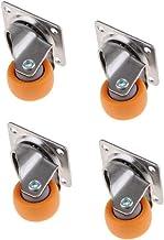 Sharplace Zwenkwielen van nylon, voor oranje, 32 mm, 17 kg, 4 stuks