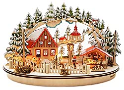 Wichtelstube collection LED candle arch Oval Christmas market in the Erzgebirge Schwippbogen Leuchter