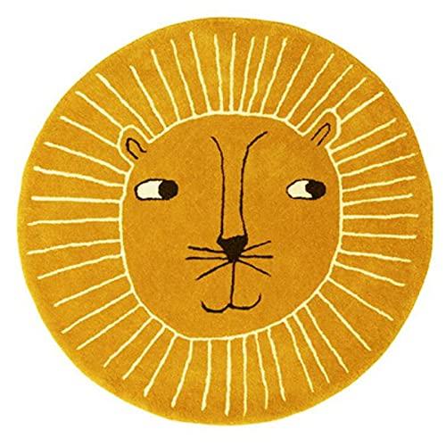 Rayocon Bande DessinéE Lion BéBé Tapis Rampant Tapis de Chevet Beaux Enfants Chambre Tapis Tapis éPaissi Lavable en Machine C