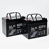 Paire de batteries de scooter gel AGM Mobility 12 V x 33 Ah 36 Ah 40 Ah 50 Ah 55 Ah 75 Ah