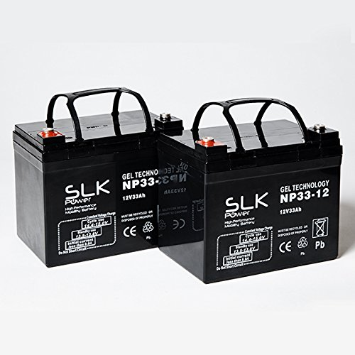 Pair of Gel AGM Mobility Scooter Batteries - 12v x 33ah, 36ah, 40ah, 50ah, 55ah, 75ah (33ah)