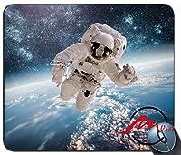 ZMvise 3D宇宙飛行士背景ファッション漫画マウスパッドマットカスタム四角形ゲームマウスパッド