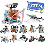 iHaHa Solar Robot Kit with Plier, 12 in 1 STEM Science Kit Toys for Kids, Learning Building...
