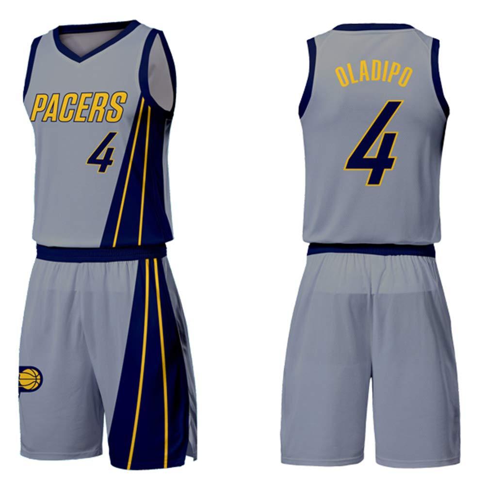 Basketball Swingman Jersey Classic Sleeveless Set FDRYA Men/'s Basketball Jerseys Indiana Pacers Victor Oladipo # 4 City Edition Jersey Shorts