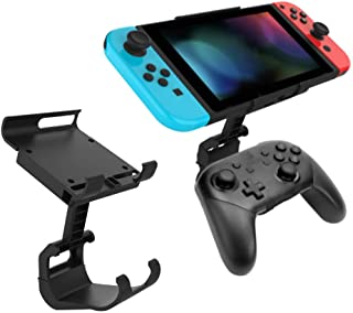 Game Controller Mount-Clip Holder Compatible with Nintendo Switch Pro Controller Gamepad Bracket for NS Switch Console Acc...