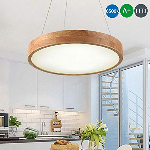 HMLIFE Log hanglamp LED hanglamp Retro eenvoudige plafondverlichting ronde in hoogte verstelbare plafondlampen hanglamp