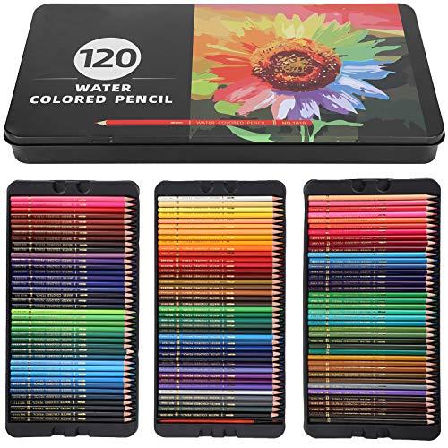 LáPices de Colores de 120 Colores, Juego de LáPices de Artista Profesional, Suministros de Arte Para Dibujar, Libro Para Colorear, Proyectos de Manualidades, Dibujo ArtíStico