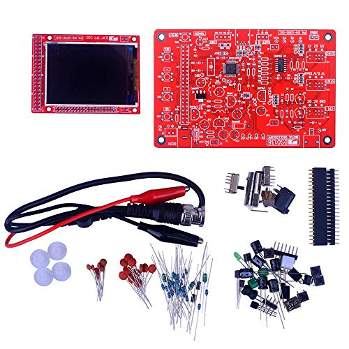 "kuman DSO 138 DIY Oscilloscope Kit Opening Source 2.4"" TFT 1MSPS Digital Oscilloscope Kit with DIY Parts & Probe, Handheld Pocket Sized 13803K, SMD pre-soldered"