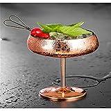 ZHGYD 304 Copa de cóctel de Acero Inoxidable 1pc Rose Cocktail...