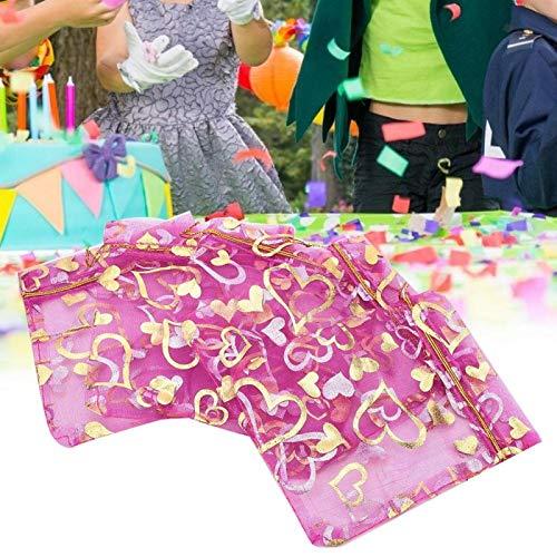 Omabeta Favor de la Boda Regalo Ligero Cómodo de Usar Cierre con cordón Desig Bolsa de joyería Envoltura de Regalos Baby Shower para Bodas Festivales Día de San Valentín(Purple)