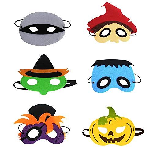 TuT - Máscara para ojos divertida, para fiestas de temática para adultos y niños, 6 unidades