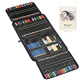 144pcs Painting, Drawing & Art Supplies Set - Colored Drawing Pencils Set - Sketching, Graphite Pencils with Portable Case, Ideal Art Kit for Beginners & Professional Drawing Artists Teens & Adults