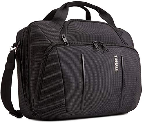 Thule Unisex's Crossover 2 Laptop Bag, Black, 17.3 x 5.9 x 12.6 in