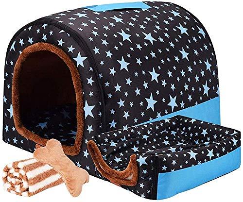 Cama Extra Grande para Perros con Techo Labrador Calming Cave Cojín ortopédico Lavable Mediano Cojín térmico de Mimbre Anti ansiedad Masticar Jumbo Carpa pequeña Tough-XXXL 102 * 80 * 72 cm_C WEL