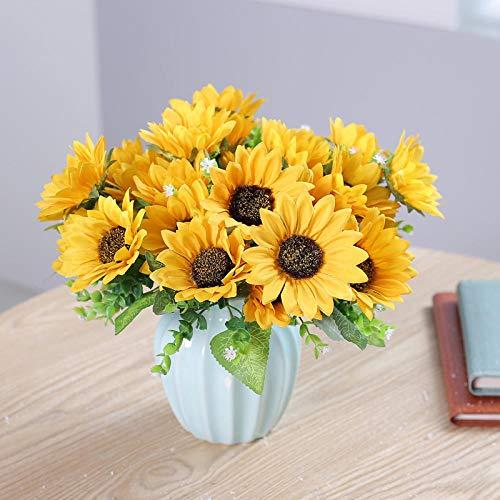 WEFLOWERSComplementi arredo_7 Simulazione Girasole Sun Flower Decorazione Soggiorno Composizione Floreale Composizione Floreale casa Ufficio Fiori