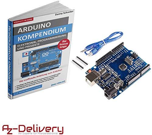 AZDelivery ⭐⭐⭐⭐⭐ Großes Arduino Kompendium Buch mit gratis Mikrocontroller Board mit USB-Kabel, kompatibel mit Arduino UNO R3