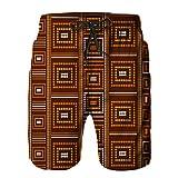 YZBEDSET Bañador De para Hombre Pantalones Playa Shorts,tribus australianas patrón Vector Transparente,Secado Rápido Ligero Baño Cortos 3XL