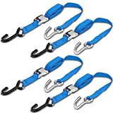 Progrip Powersports Motorcycle Tie Down Straps Lab Tested (4 Pack) Blue
