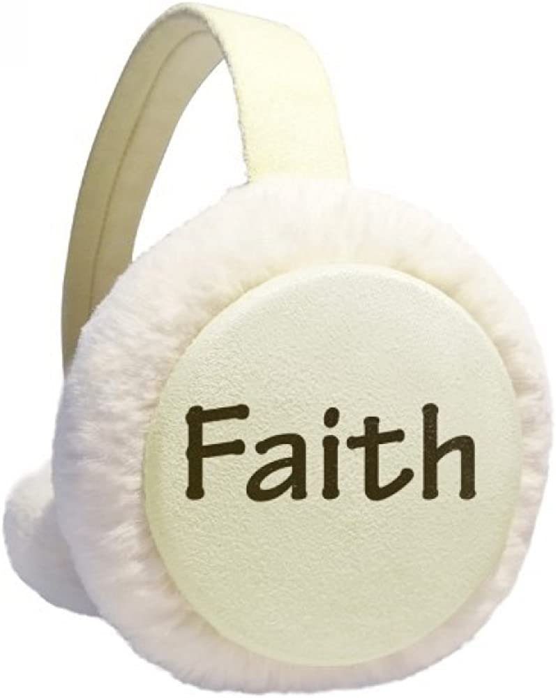cheap Faith Word Inspirational Quote Sayings low-pricing Winter Cable Ear K Warmer