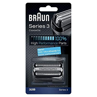 Braun Series 3 32B Electric Shaver Head Replacement Cassette - Black from Procter & Gamble