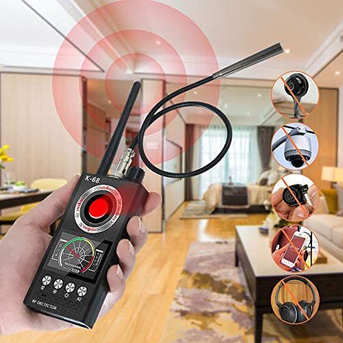 JMDHKK Anti Spy RF Signal Detector Bug Detector, Camera Finder Scanner, GPS Tracker Detector, Find and Locate Eavesdropping Device Auto Scan 4-in-1 Detector