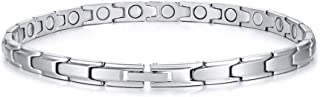 Stainless Steel Magnetic Therapy Anklet Bracelet,Arthritis Pain Relief & Inflammation Reduction for Feet and Ankles for Dad Men Women