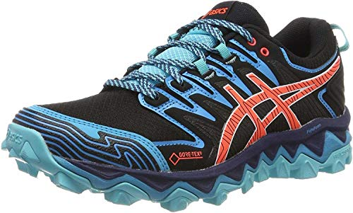 ASICS Damen Gel-Fujitrabuco 7 G-TX Walking-Schuh, Black/Aquarium, 39 EU