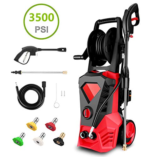Best Buy! Hopekings Electric Pressure Washer 3500PSI 2.6GPM Electric Power Washer Machine with Power...