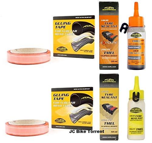 Tufo 2 Cintas Adhesiva Tubular 19mm +Líquido Reparapinchazos Preventivo +Sellador Extreme