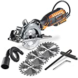 VonHaus 4-1/2' Compact Circular Saw 5.8 Amp with Adjustable...