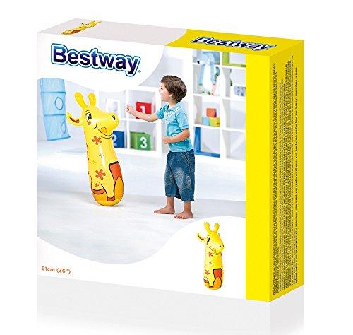 Fair Pungiball Gioco Gonfiabile per Bambini Sempre in Piedi Giraffa