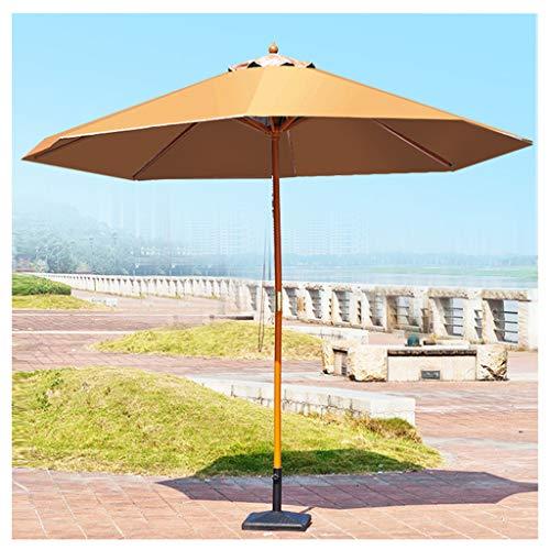 YDDZ Sombrilla al Aire Libre Sombrilla Plegable para Patio Protección UV Paragüero de Madera Maciza Tela Impermeable para Sombrilla Adecuada para Terraza Jardín Tienda de Té con Leche