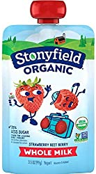 Stonyfield Organic Whole Milk Strawberry-Beet-Berry Yogurt 3.5 oz. Pouch
